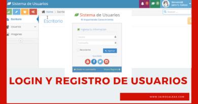 Login y Registro de Usuarios
