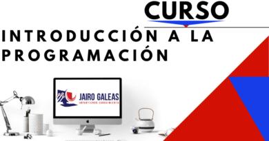 Curso Introducción a la programación por Jairo Galeas