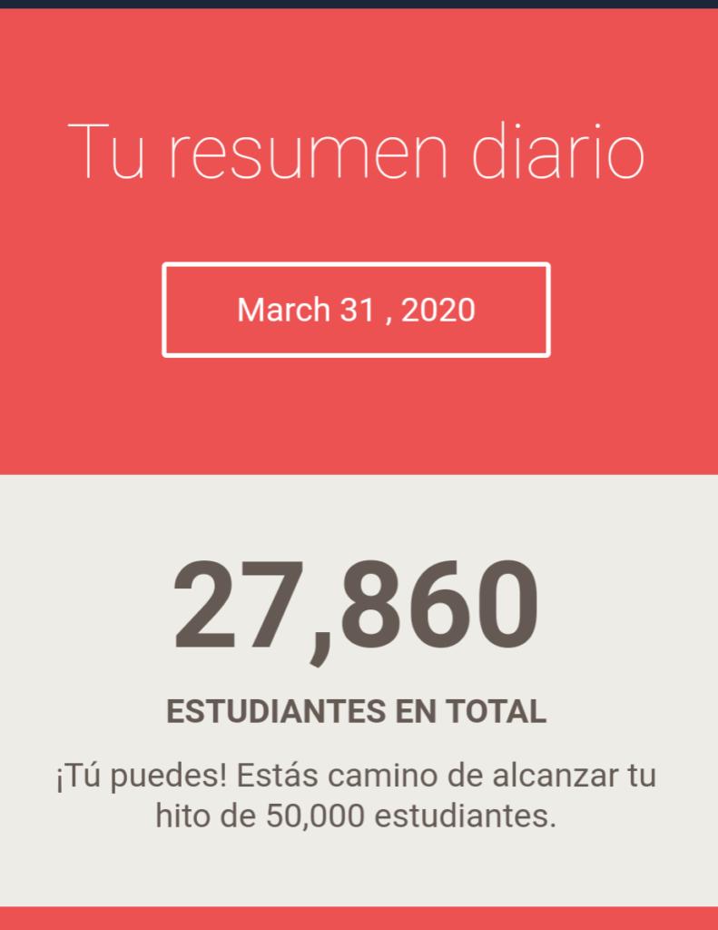 Alumnos mes de Marzo 2020 Jairo Galeas